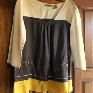 Art and Soul Peasant Blouse Size Large